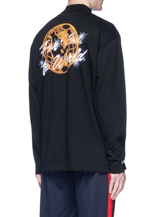 Back View - Click To Enlarge - Heron Preston - 'For you the world' print long sleeve T-shirt