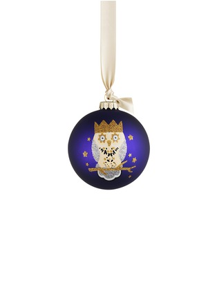 Main View - Click To Enlarge - KATE BARNETT - Owl glass bauble Christmas ornament