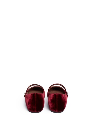 Back View - Click To Enlarge - TABITHA SIMMONS - Hermione' velvet Mary Jane flats