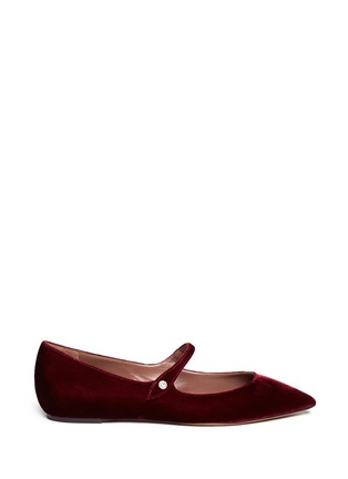 Main View - Click To Enlarge - TABITHA SIMMONS - Hermione' velvet Mary Jane flats