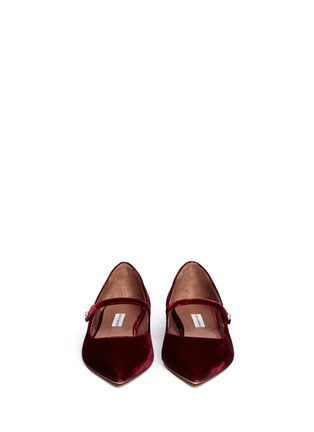 Figure View - Click To Enlarge - TABITHA SIMMONS - Hermione' velvet Mary Jane flats