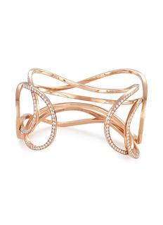 Dauphin 'Serpentine' diamond 18k rose gold cuff
