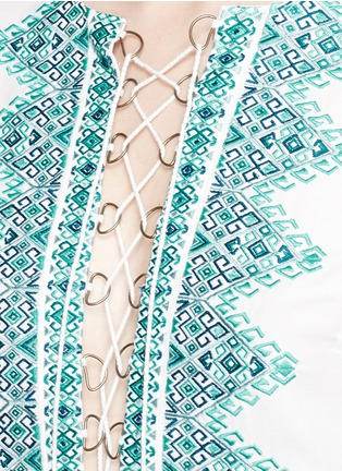 Detail View - Click To Enlarge - Talitha - 'Noor' embroidery lace-up tunic