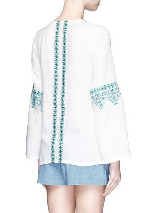 Back View - Click To Enlarge - Talitha - 'Noor' embroidery lace-up tunic