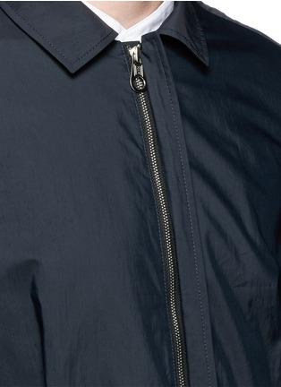 Detail View - Click To Enlarge - Wooyoungmi - Grosgrain trim cotton blend coach jacket