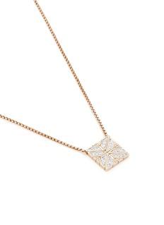 John Hardy Diamond 18k gold square pendant necklace