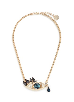 Main View - Click To Enlarge - ANTON HEUNIS - Swarovski crystal vintage stone crying eye pendant necklace
