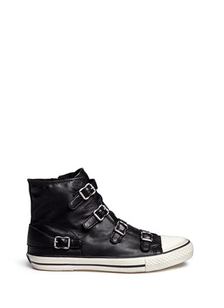 Main View - Click To Enlarge - ASH - 'Virgin' buckle leather high top sneakers