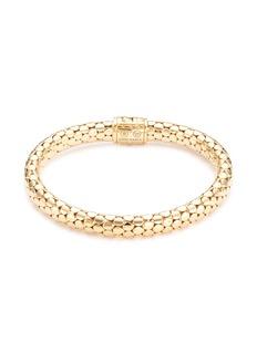 John Hardy Diamond 18k yellow gold dotted bracelet