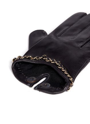 Detail View - Click To Enlarge - MAISON FABRE - 'Sasha Chaine' chain lambskin leather short gloves