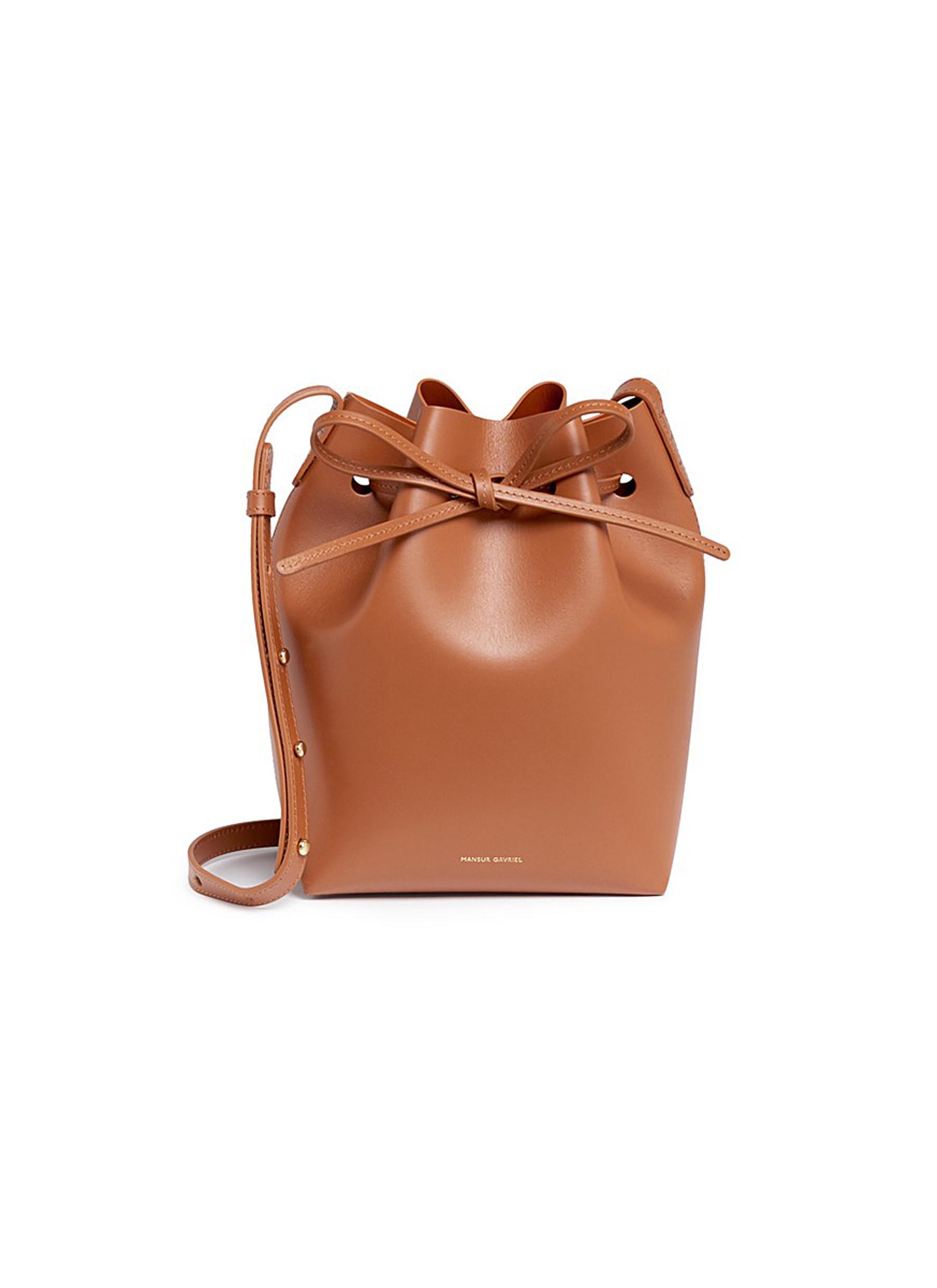 Mansur Gavriel Leathers 'Mini' leather bucket bag