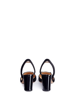 Back View - Click To Enlarge - CHARLOTTE OLYMPIA - 'Kitty' velvet slingback pumps