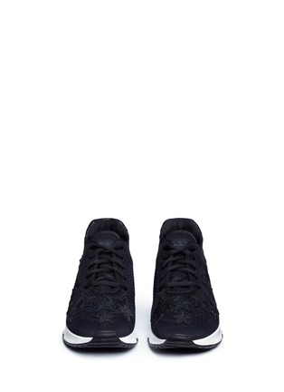 Front View - Click To Enlarge - Ash - 'Lucky Star' appliqué mixed knit sneakers
