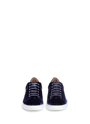 Front View - Click To Enlarge - GIANVITO ROSSI - Velvet sneakers