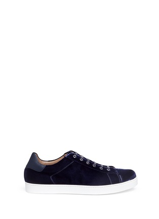 Main View - Click To Enlarge - GIANVITO ROSSI - Velvet sneakers