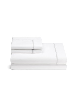 Main View - Click To Enlarge - LANE CRAWFORD - CONTRAST BORDER QUEEN SIZE DUVET SET