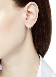 Maria Tash 'Single Spike Diamond Eternity' 18k white gold single 8mm hoop earring