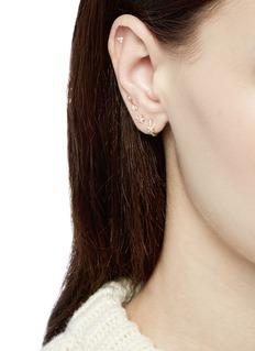 Maria Tash 'Star' yellow gold single threaded stud earring