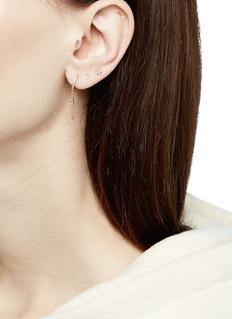 Maria Tash 'Arrow' diamond rose gold single threaded stud earring