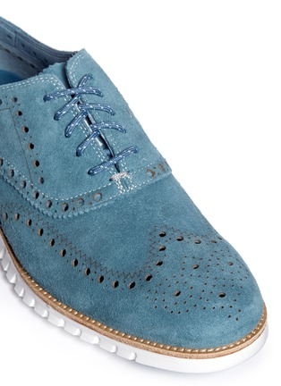 Detail View - Click To Enlarge - Cole Haan - ZeroGrand' suede Oxfords