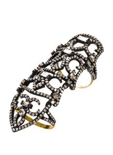 Aishwarya Diamond gold alloy knuckle hinged ring