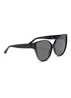 Linda Farrow Oversized acetate cat eye sunglasses