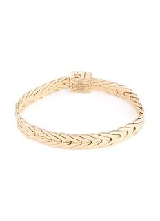 John Hardy Diamond 18k yellow gold weave effect link chain bracelet
