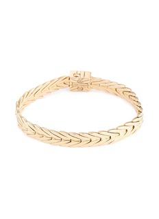 John Hardy 18k yellow gold weave effect link chain bracelet