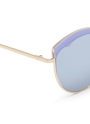 Detail View - Click To Enlarge - Stephane + Christian - 'Cotton Candy' round cat eye mirror sunglasses