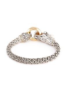 John Hardy 18k yellow gold silver scaly Naga chain bracelet