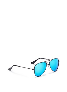 Ray-Ban 'Aviator Junior' metal mirror sunglasses