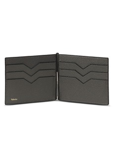 Valextra Simple Grip Spring leather wallet – Smokey Grey