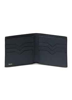 Valextra Leather bifold wallet – Dark Blue