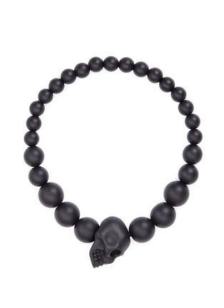 Main View - Click To Enlarge - ALEXANDER MCQUEEN - Skull charm metal ball bracelet