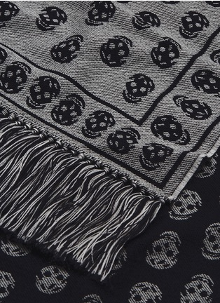 Detail View - Click To Enlarge - ALEXANDER MCQUEEN - Skull jacquard wool knit scarf