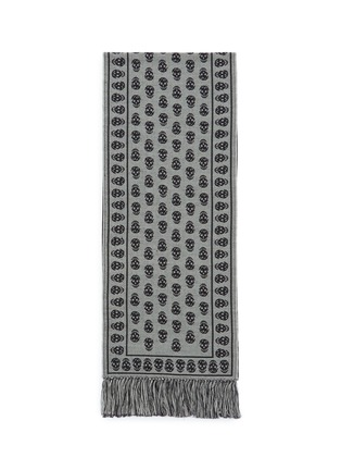 Main View - Click To Enlarge - ALEXANDER MCQUEEN - Skull jacquard wool knit scarf