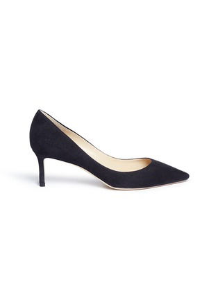 Main View - Click To Enlarge - Jimmy Choo - 'Romy 60' suede pumps