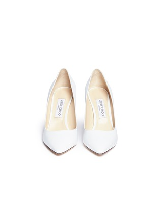 Front View - Click To Enlarge - Jimmy Choo - 'Romy 85' kid leather pumps