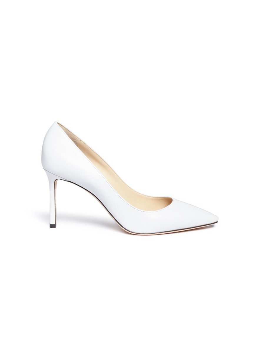 Romy 85 kid leather pumps by Jimmy Choo