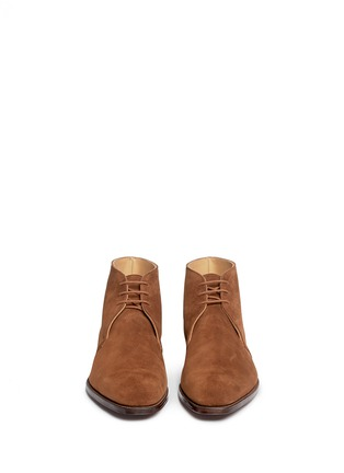 Front View - Click To Enlarge - GEORGE CLEVERLEY - 'Nathan' suede chukka boots