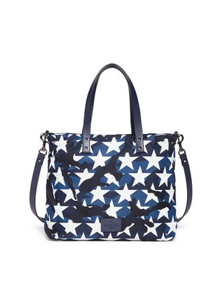 Detail View - Click To Enlarge - VALENTINO - 'Camustars' print tote bag