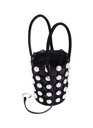 - Alexander Wang  - 'Roxy' round stud mini caged leather bucket bag