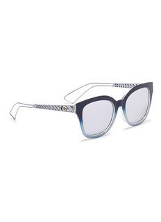 Dior 'Diorama 1' degradé metal openwork temple mirror sunglasses
