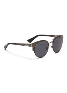 Dior 'Diorama Mini' metal openwork temple browline sunglasses