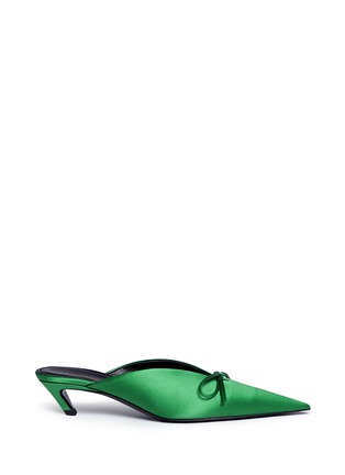 Main View - Click To Enlarge - BALENCIAGA - 'Knife' extreme pointed toe satin mules