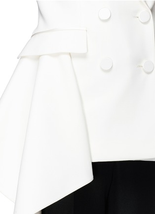 Detail View - Click To Enlarge - Alexander McQueen - Drape side double breasted blazer