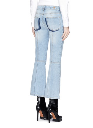 Back View - Click To Enlarge - Alexander McQueen - Cropped bell-bottom jeans