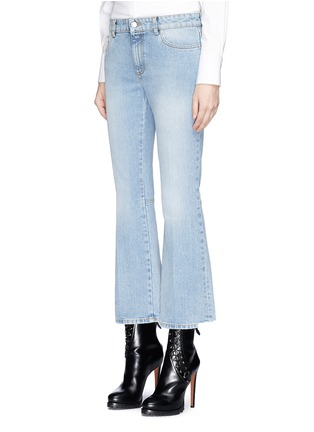 Front View - Click To Enlarge - Alexander McQueen - Cropped bell-bottom jeans