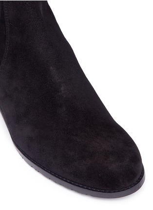 Detail View - Click To Enlarge - Stuart Weitzman - 'Reserve' stretch suede knee high boots