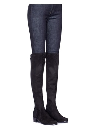 Figure View - Click To Enlarge - Stuart Weitzman - 'Reserve' stretch suede knee high boots